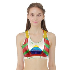 Coat of Arms of The Republic of Belarus Sports Bra with Border