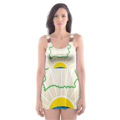 Coat of Arms of The Republic of Belarus Skater Dress Swimsuit