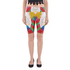 Coat of Arms of The Republic of Belarus Yoga Cropped Leggings