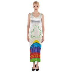 Coat of Arms of The Republic of Belarus Fitted Maxi Dress