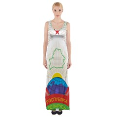 Coat of Arms of The Republic of Belarus Maxi Thigh Split Dress