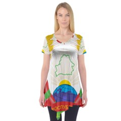 Coat of Arms of The Republic of Belarus Short Sleeve Tunic