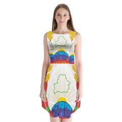 Coat of Arms of The Republic of Belarus Sleeveless Chiffon Dress
