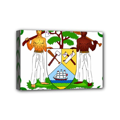 Coat of Arms of Belize Mini Canvas 6  x 4
