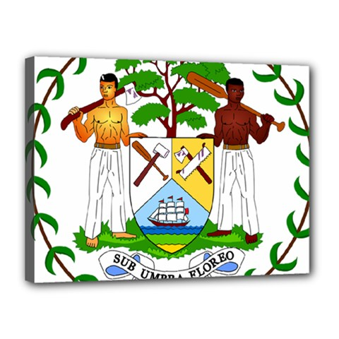Coat of Arms of Belize Canvas 16  x 12