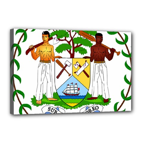 Coat of Arms of Belize Canvas 18  x 12