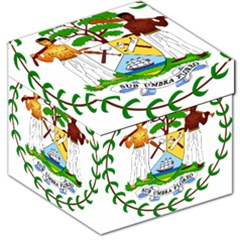 Coat of Arms of Belize Storage Stool 12