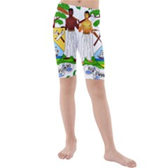 Coat of Arms of Belize Kids  Mid Length Swim Shorts