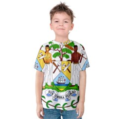 Coat of Arms of Belize Kids  Cotton Tee