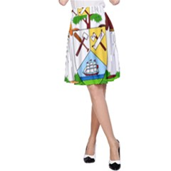 Coat of Arms of Belize A-Line Skirt