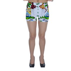Coat of Arms of Belize Skinny Shorts