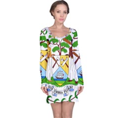 Coat of Arms of Belize Long Sleeve Nightdress