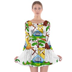 Coat of Arms of Belize Long Sleeve Skater Dress