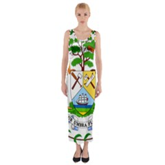 Coat of Arms of Belize Fitted Maxi Dress