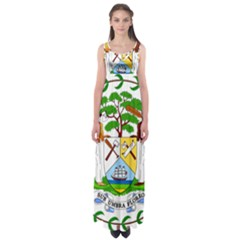 Coat of Arms of Belize Empire Waist Maxi Dress