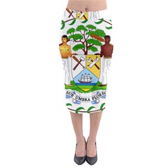 Coat of Arms of Belize Midi Pencil Skirt