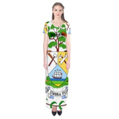 Coat of Arms of Belize Short Sleeve Maxi Dress