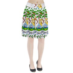 Coat Of Arms Of Belize Pleated Skirt