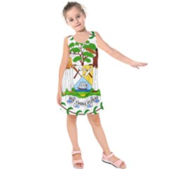 Coat of Arms of Belize Kids  Sleeveless Dress