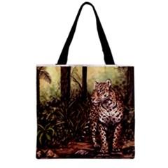 Jaguar In The Jungle Grocery Tote Bag