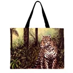 Jaguar in the Jungle Large Tote Bag