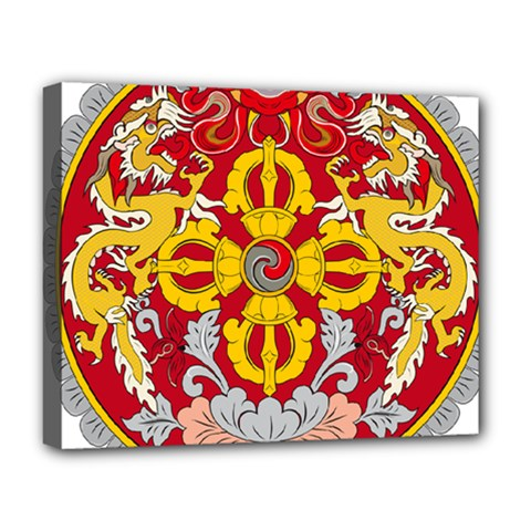 National Emblem of Bhutan Deluxe Canvas 20  x 16