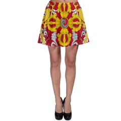 National Emblem of Bhutan Skater Skirt
