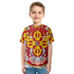 National Emblem of Bhutan Kids  Sport Mesh Tee