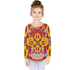 National Emblem Of Bhutan Kids  Long Sleeve Tee