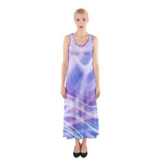 Abstract Graphic Design Background Sleeveless Maxi Dress