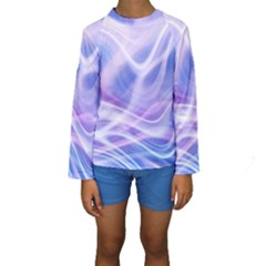 Abstract Graphic Design Background Kids  Long Sleeve Swimwear