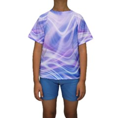 Abstract Graphic Design Background Kids  Short Sleeve Swimwear