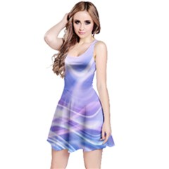 Abstract Graphic Design Background Reversible Sleeveless Dress