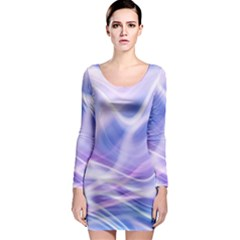 Abstract Graphic Design Background Long Sleeve Bodycon Dress