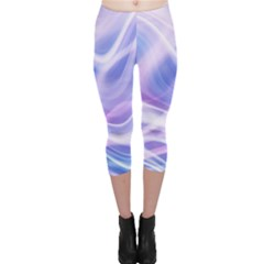 Abstract Graphic Design Background Capri Leggings