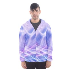 Abstract Graphic Design Background Hooded Wind Breaker (Men)