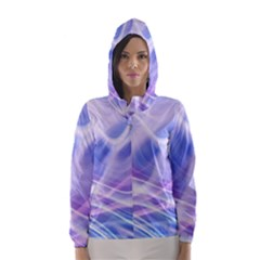 Abstract Graphic Design Background Hooded Wind Breaker (Women)