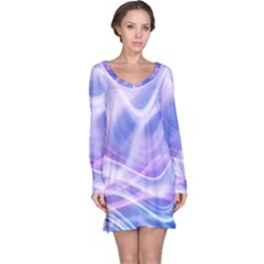 Abstract Graphic Design Background Long Sleeve Nightdress