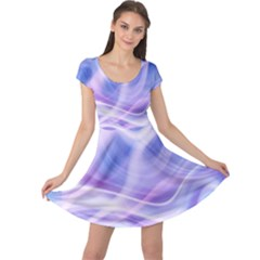 Abstract Graphic Design Background Cap Sleeve Dresses