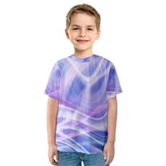Abstract Graphic Design Background Kids  Sport Mesh Tee