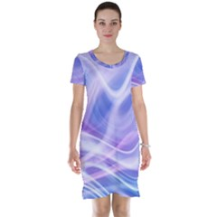 Abstract Graphic Design Background Short Sleeve Nightdress