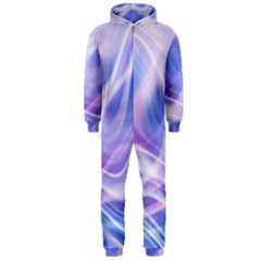 Abstract Graphic Design Background Hooded Jumpsuit (Men)