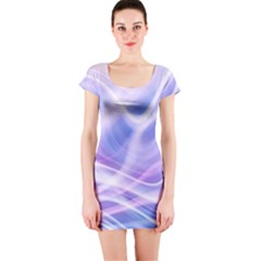 Abstract Graphic Design Background Short Sleeve Bodycon Dress