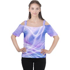 Abstract Graphic Design Background Women s Cutout Shoulder Tee