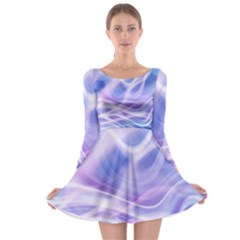 Abstract Graphic Design Background Long Sleeve Skater Dress