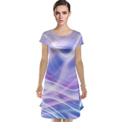 Abstract Graphic Design Background Cap Sleeve Nightdress