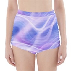 Abstract Graphic Design Background High-Waisted Bikini Bottoms