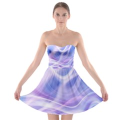 Abstract Graphic Design Background Strapless Bra Top Dress