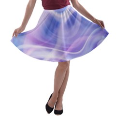 Abstract Graphic Design Background A-line Skater Skirt