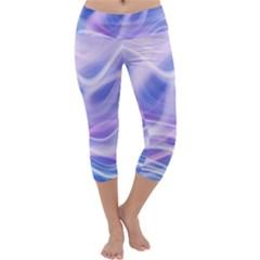 Abstract Graphic Design Background Capri Yoga Leggings